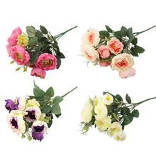 Handmade Plastic Artificial Camellia Wedding Home Decoration Bride Bouquet Gift Cheap Flower