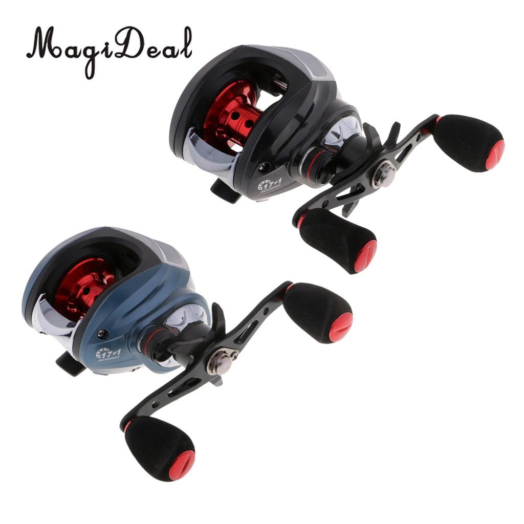 Baitcaster Reel High Speed 7.2:1 17+1 BB Low Profile Baitcasting Fishing Reel - Right Hand цена 2017
