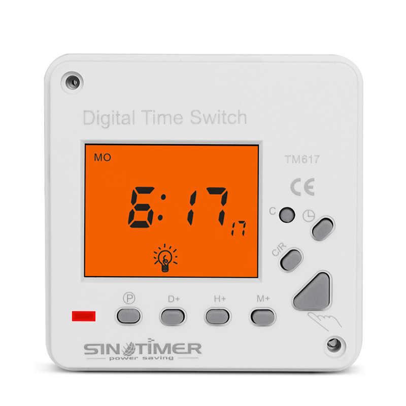 Tm617-1 110Vac 超大型 Lcd ディスプレイバックライト 7 日週刊 Backli とデジタル電子タイマー照明スイッチ
