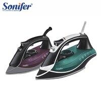 Красочные 2200 Вт Портативный электрический утюг с паром для одежды высокое качество три шестерни керамика soleplate 220 В Sonifer