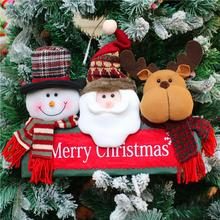 2018 Christmas Decorations Christmas Tree Ornaments Door Window Hangings Santa Snowman Elk Combinati