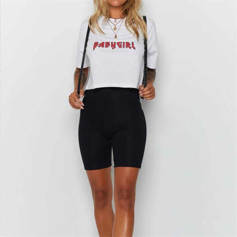 Damskie ćwiczenia na świeżym powietrzu zwykły aktywny letnie spodenki rowerowe rozciągliwe podstawowe krótkie gorące stałe czarny miękki nosić szorty dla kobiet kobieta