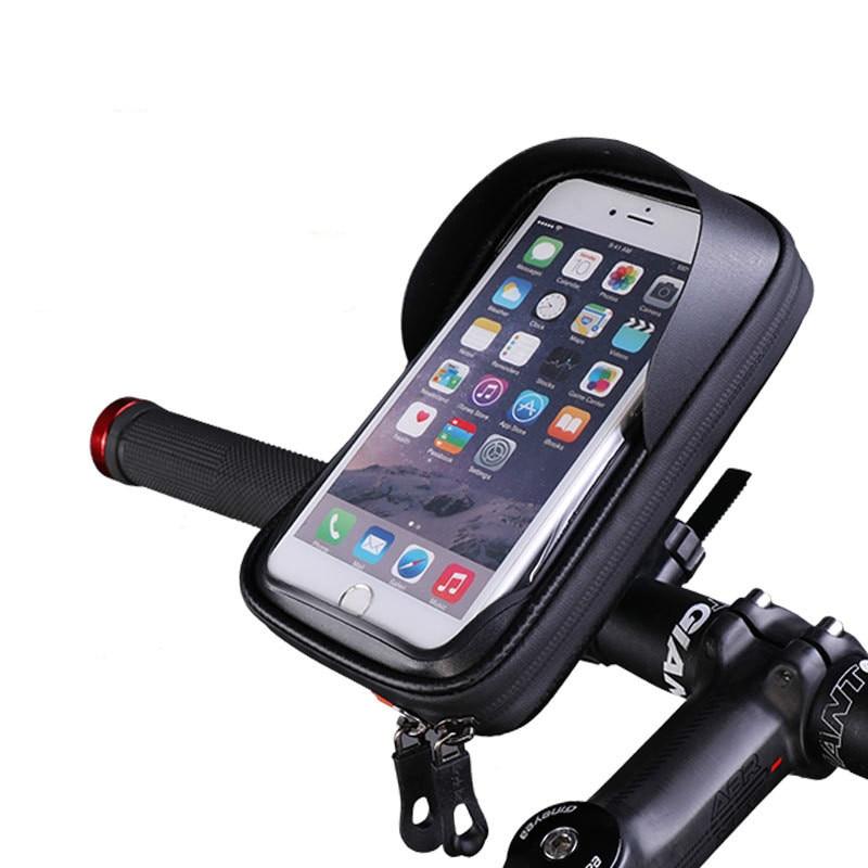 360 Rotating Base Bicycle Bike Bag Touchscreen Frame Cycling Top Waterproof Tube Bag Phone Case Bike Accessories