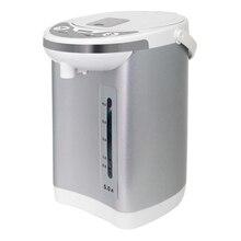 Термопот MYSTERY MTP-2451 (Мощность 700 Вт, объем 5 л, Закрытый нагревательный элемент, Шкала уровня воды с подсветкой, Отключение при недостаточном количестве воды, 2 способа налива воды, режим поддержания температур