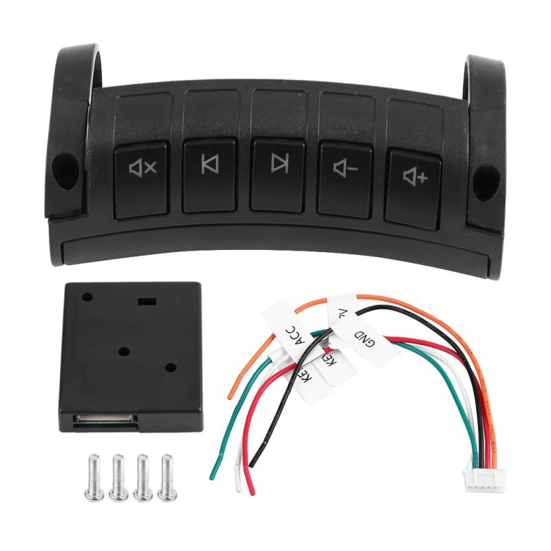 12V Multi function Car Wireless Steering Wheel Remote Control DVD Navigation Button Universal Car Electronics Accessories