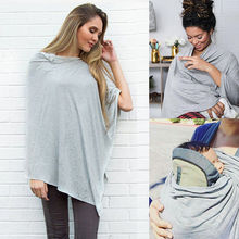 Nursing Breastfeeding Cover Up Scarf Baby Seat Canopy Autumn Coat Shawl Nursing Covers