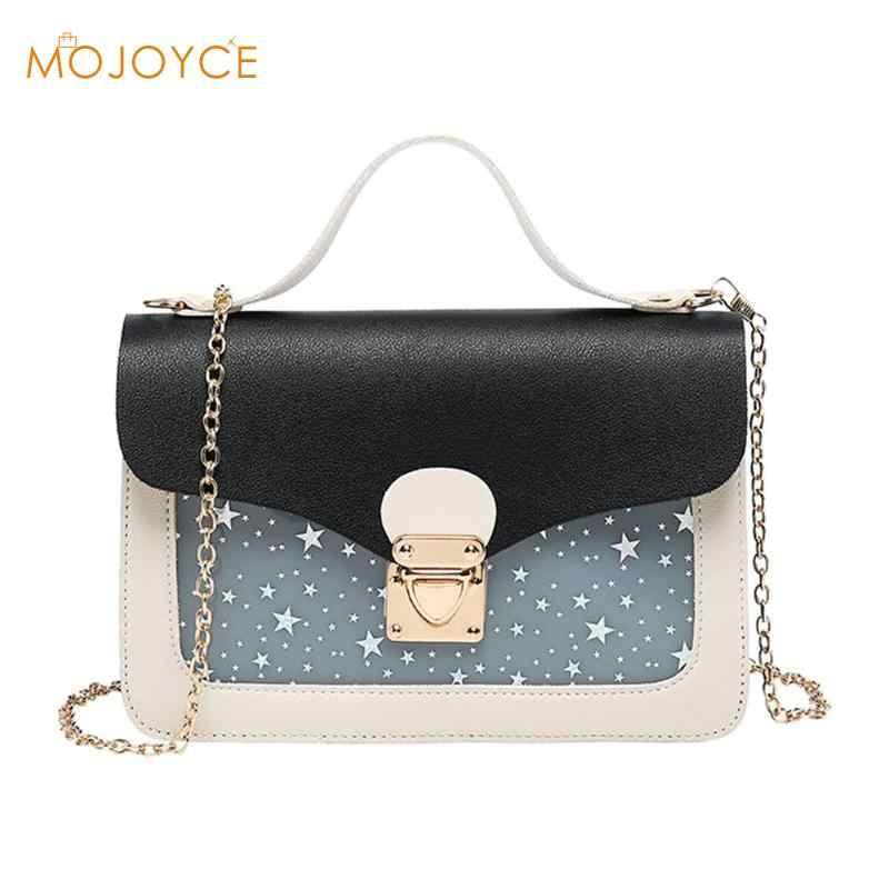 Cute Stars Pattern Fashion Women Shoulder bags PU Leather Women Small Crossbody Bags Messenger Bags bolsa feminina Dropshipping