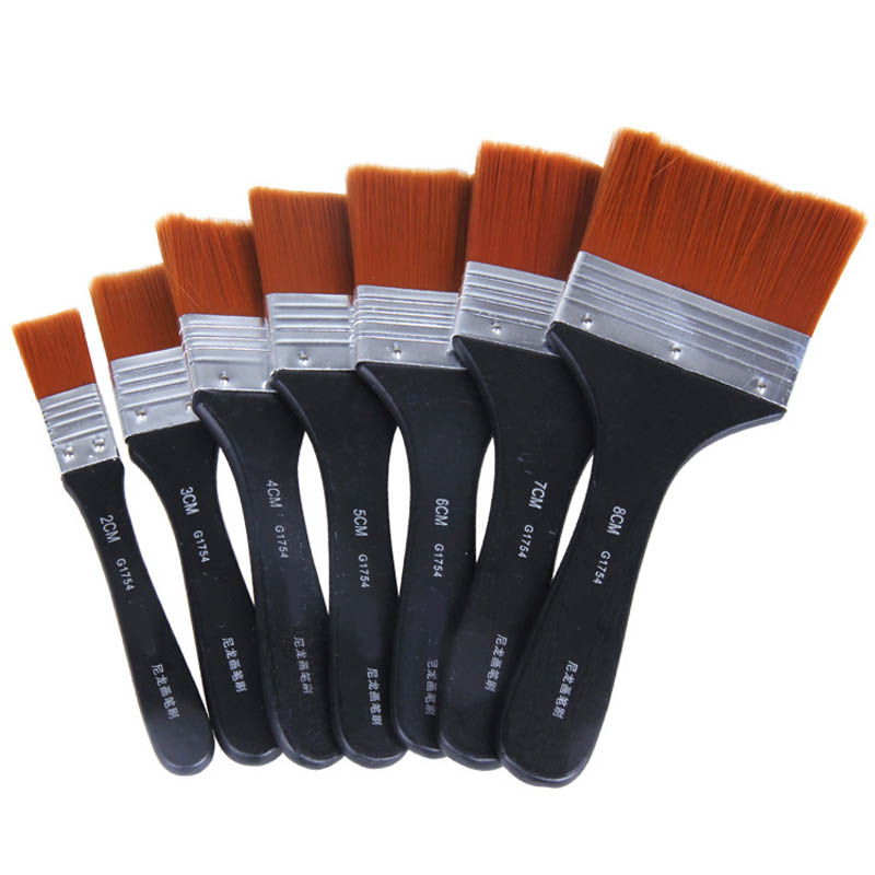 Watercolor Oil Tool Acrylic Paint Brushes Art Supplies Easy To Clean Art Paint Brushes Nylon Oil Painting Brush