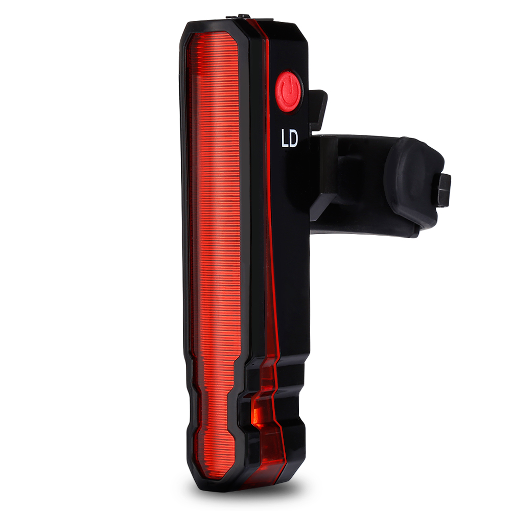 5 LED Bicycle Safety Cycling Warning Rear Lamp USB Rechargeable Bike Tail Light