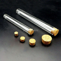 18x180mm 15pcs/lot Borosilicate lab glass test tube with cork stopper blowing glass Pyrex test tube for scientific experiments