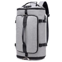 Купить с кэшбэком Fitness Training Bag Nylon Gym Bag USB Charging Anti Theft Laptop Backpack Multifunction Sport Travel Bags For Shoes Storage