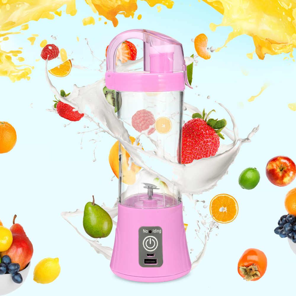 Elétrico Portátil Copo Espremedor de Frutas Suco de Vegetais Juicers Fabricante De Liquidificador Misturador Portátil USB Recarregável Squezers Garrafa de Água