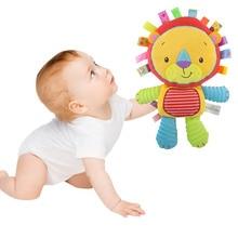 Cute Baby Plush Toys Soft Cartoon Animals Bells Dolls for Infant YJS Dropship