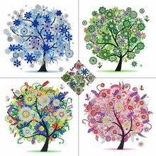 AZQSD Diamond Embroidery Flower Tree Special Shaped Rhinestones Diamond Painting Needlework Butterfly 5D DIY Crystal Painting(China)