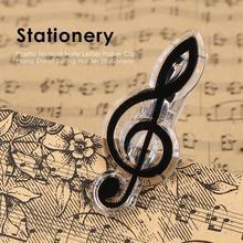 Пластиковая музыкальная заметка, бумажный зажим, музыкальный книжный лист, пружинный держатель, папка для фортепиано, гитары, скрипки, канцелярские принадлежности