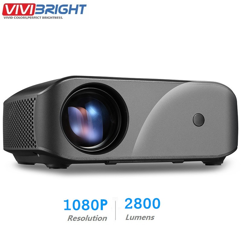 VIVIBRIGHT F10 LCD Projector 1280 x 720P 2800 Lumens HDMI USB Home Entertainment Projector Built in Speaker 3D Video Proyector