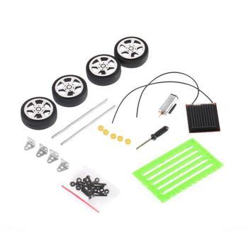 1Pcs Mini Solar Toy DIY Car Children Educational Puzzle IQ Gadget Hobby Robot UL 6