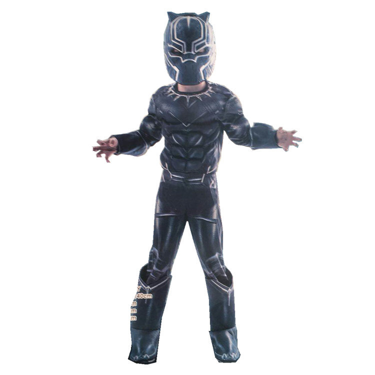 Halloween Cosplay Fancy Dress Ball Muscle Fund Panther Play The Role Clothing Mask Suit Children Cosplay