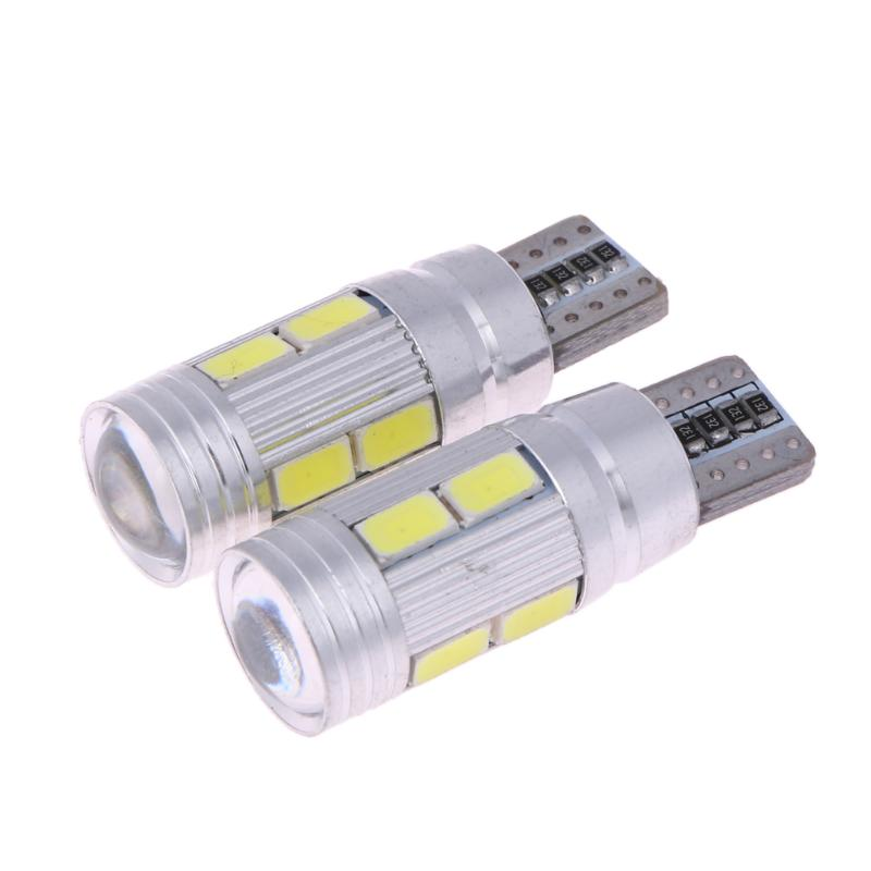 2Pcs <font><b>T10</b></font> Car Light Bulb 5630 <font><b>10</b></font> <font><b>SMD</b></font> W5W Auto Led Lamp 12V Automobiles Parking Tail Trunk License Light-emitting Diode Lamp New image