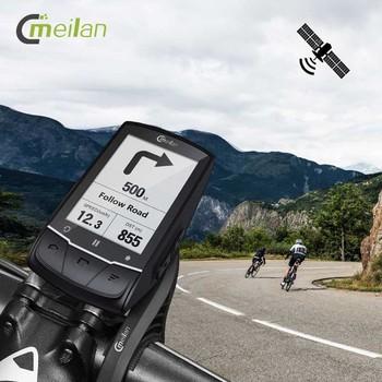 Meilan M1 GPS komputer rowerowy rower bezprzewodowy prędkościomierz Mtb rowerowy licznik odległości czujnik prędkości pulsometr opcjonalnie tanie i dobre opinie Bezprzewodowy stoper