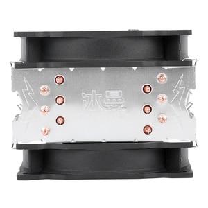 Image 5 - Bonhomme de neige 4PIN refroidisseur de processeur 6 caloduc Double ventilateurs refroidissement 12cm ventilateur LGA775 1151 115x1366 prise en charge Intel AMD