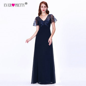 Mother Of The Bride Dresses Ever Pretty Elegant Navy Blue A-line Short Sleeve Chiffon Lace Embroidery Party Gowns For Wedding 3