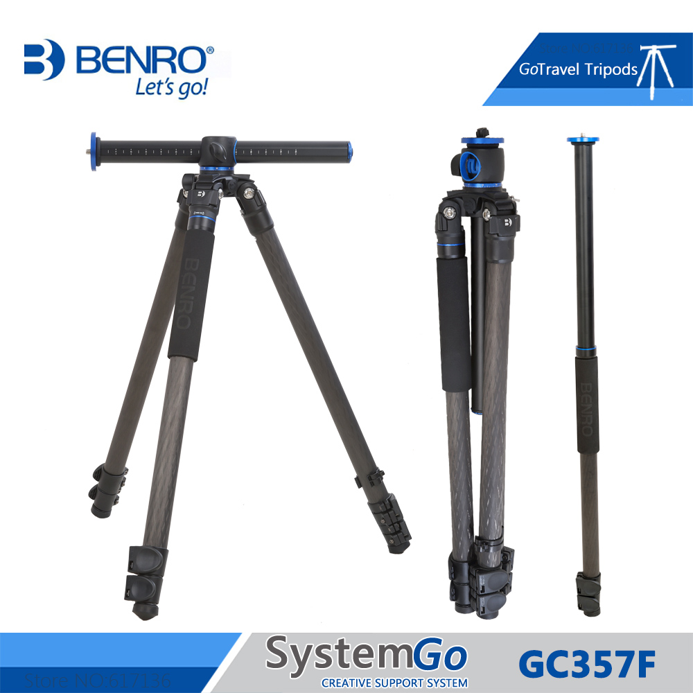 Benro GC357F Tripod Carbon Fiber Camera Monopod Tripods For Camera 3 Section Carrying Bag Max Loading 20kg DHL Free Shipping