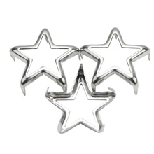 50PCS Silver Metal Decorative Star Spots Studs Pop Rivets for Jeans Spikes Shoes Clothes Leather Bag Belt Decor Punk Rock 15mm