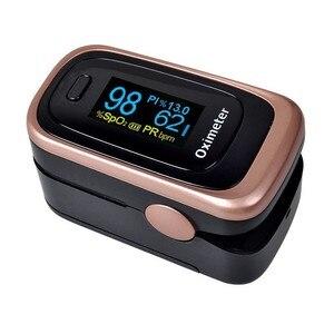 Image 2 - Finger Pulse Fingertip Oled Portable Oximeter SPO2 PR PI 8 hours sleep monitor Blood Oxygen Oximetro pediatrico De Dedo a case