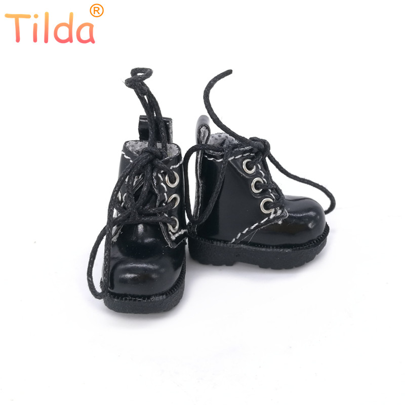 Tilda 3.2cm Doll Boots For Blythe Azone Doll Toy,1/8 Mini Lovely Leather Dots Gym Shoes For BJD Dolls Boot Shoes Accessories