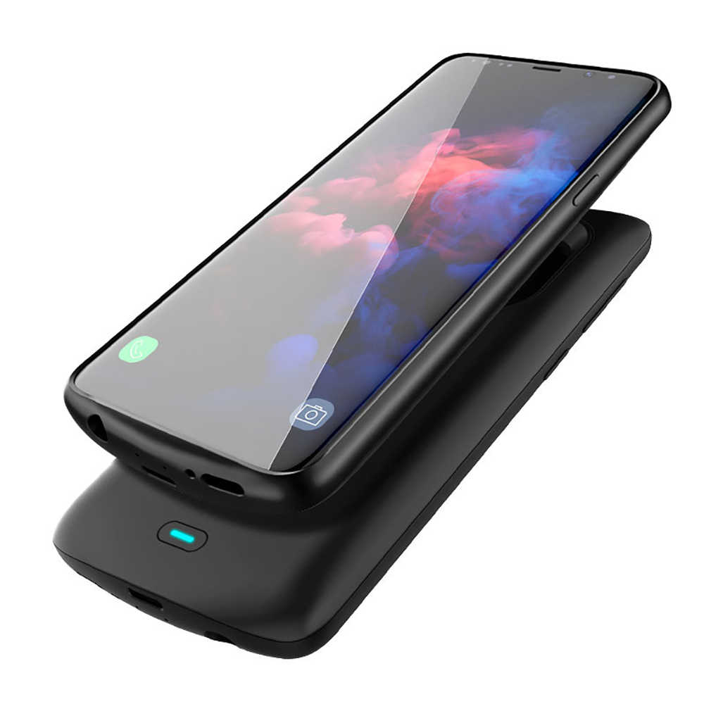 Nueva funda de cargador de batería de 5000mah Leioua para Samsung Galaxy S9 S8 Plus para Samsung Note 8 funda de batería Note 9