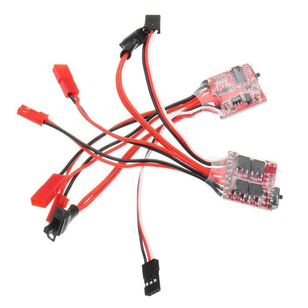 30A Mini cepillo ESC freno para RC coche/barco controlador de velocidad con freno para RC 1/16 1/18 escalada RC coche barco RC coche piezas de coche