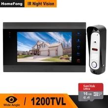HomeFong видеодомофон домофон с дверной звонок с записью данных камера широкий угол ИК ночного видения + 16 г sd-карта intercomunicador