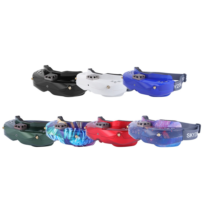 SKYZONE SKY02X 5.8Ghz 48CH diversité FPV lunettes de soutien 2D/3D HDMI tête de suivi avec ventilateur DVR caméra avant pour Drone de course RC