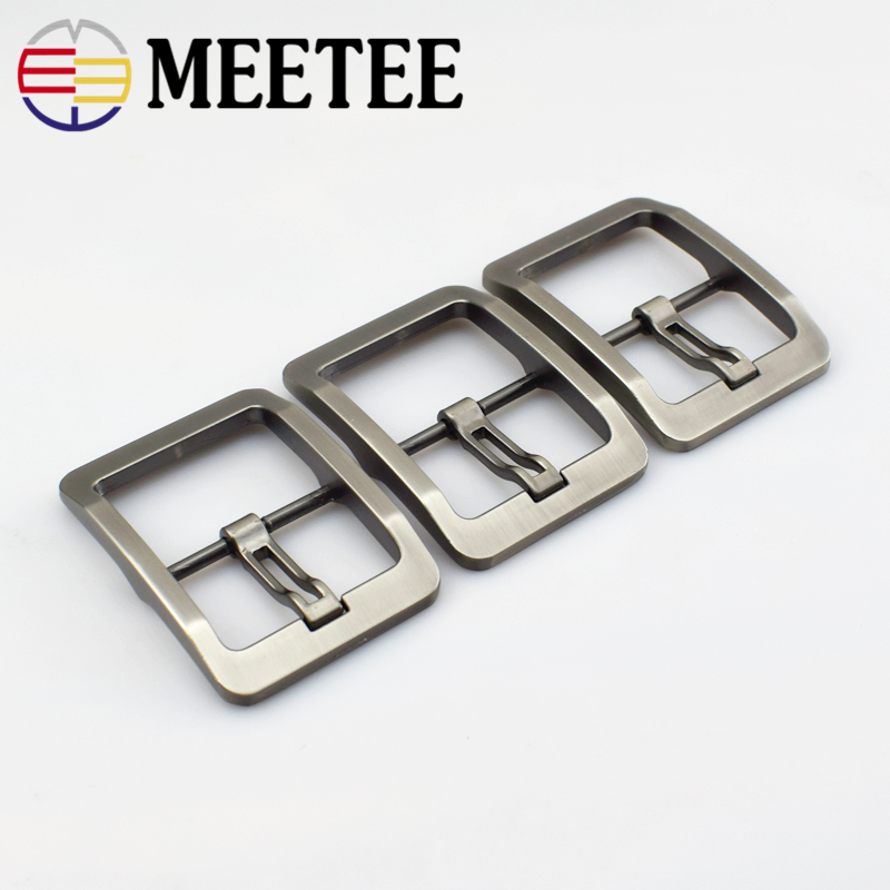 High Quality Soild Matte Gun Brushed 4.0cm Metal Pin Belt Buckle For Clothing Belt Buckle DIY Leathercraft Hardware F1-54