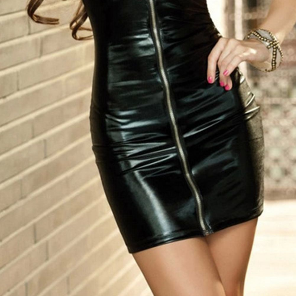 Sexy Lingerie Women Sex Night  Erotic Dress Faux Leather Female Zip Club Wear Party Apparel Fetish Bondage Costumes 6