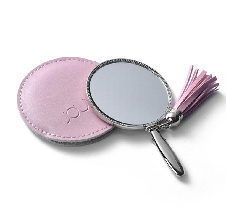 GX2002 Plastic acrylic makeup mirror with led background light 10X amplify mirror