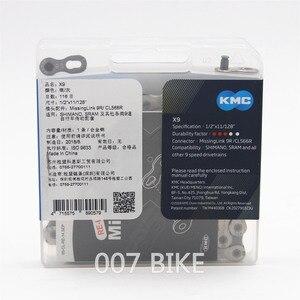 Image 2 - KMC cadena para bicicleta de montaña x9,93, cadena Original de 9, 18 y 27 velocidades, 116L