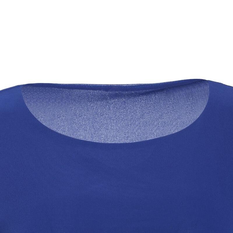 Blouse Mousseline Dames Femmes De Soie Lâche Décontracté Printemps Blouses Été Tops Rayés Vêtements Bleu Mode Travail Bureau 2019 Élégant En Simple Brxq5HwB