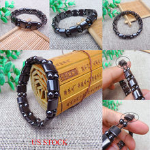 Unisex Hematite Stone Bead Stretch Bracelet Healing Magnetic Therapy Weight Loss(China)