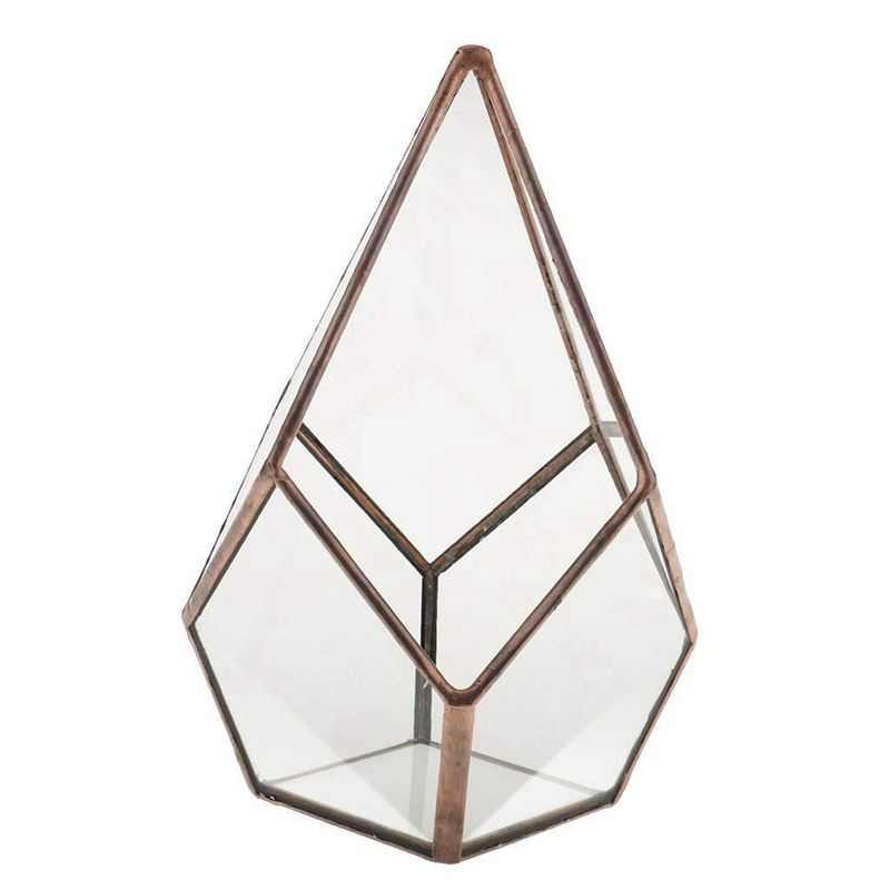 Decorative   Glass flower vase  clear  geometric shape  Fantasy  home / wedding ornament  12 x 12 x 17cm|Flower Pots & Planters| |  - title=