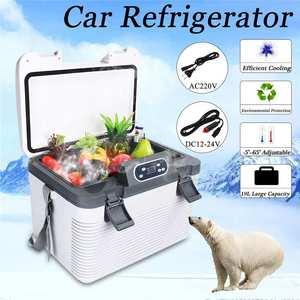 Image 4 - 19L Frigorifero Auto Freeze riscaldamento DC12 24V/AC220V Compressore Frigorifero per la Casa Auto Picnic riscaldamento Refrigerazione 5 ~ 65 gradi