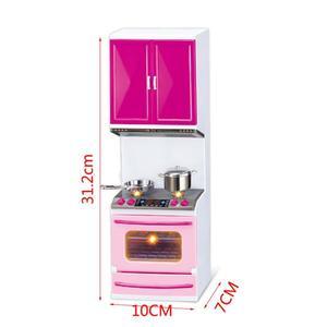Image 5 - Simulazione Mobili Da Cucina Set Bambini Giochi Di Imitazione Strumenti di Cottura Mini Bambole Da Tavola Vestiti Giocattoli Ragazze Dollhouse Giocattolo Gioco Gif