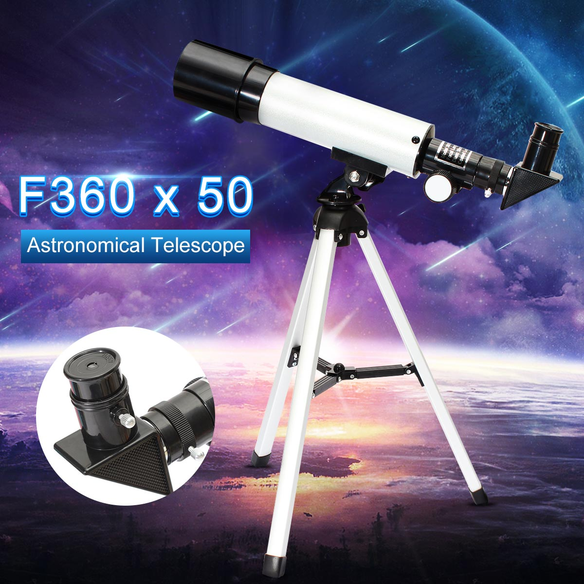 Professional HD Telescope Astronomical Monocular With Tripod Refractor Spyglass Zoom High Power Spotting Scopes Powerful