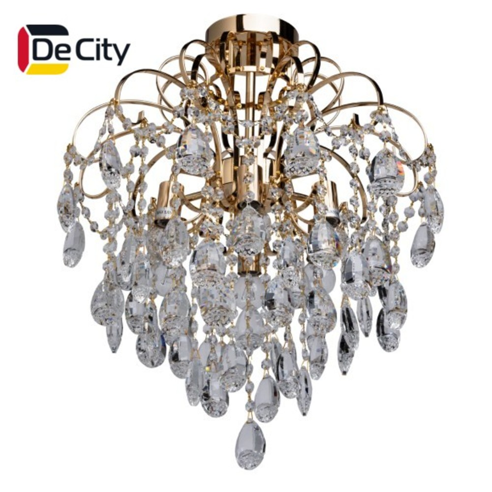 Фото - Chandelier Crystal DeCity 464017006 ceiling chandelier for living room to the bedroom indoor lighting creative led restaurant lamp chandelier modern minimalist hotel atmosphere living room lamp villa project large candle crystal