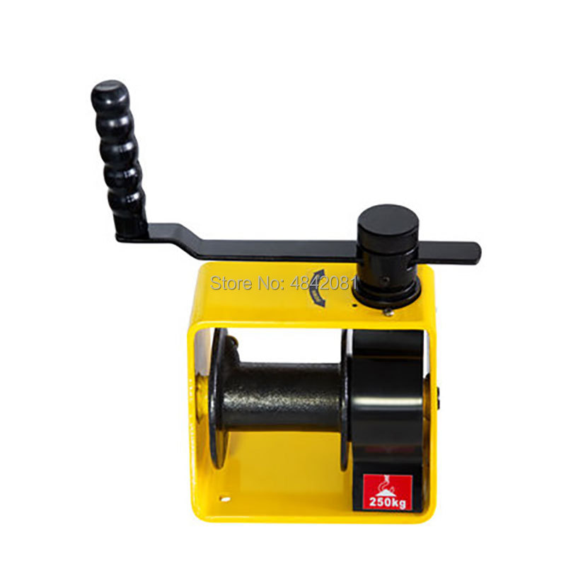 250kg/500kg/1Ton/2Ton Cheap Manual Winch Boat Truck Auto Self-locking Without Wire Rope