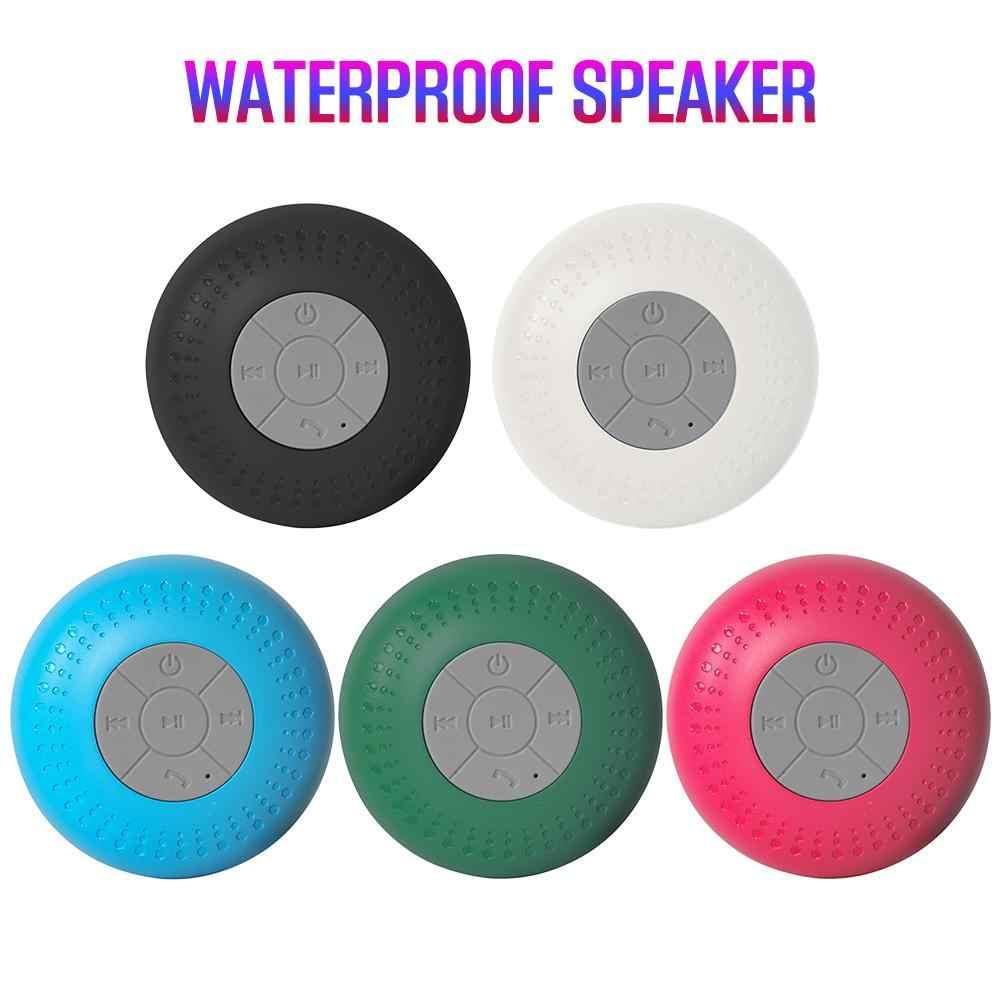 חדש מיני רמקול Bluetooth אלחוטי דיבורית שיחה עמיד למים מכונית אמבטיה סטריאו סאב מוסיקה רמקול עם יניקה Soundbar