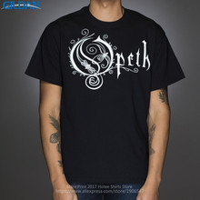 Adult 100% Cotton Customized Tees Interesting Pictures  Men'S Short Sleeve Summer O-Neck Opeth Classic Logo Tee Shirt цена и фото