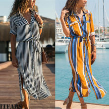 Spring Women's Boho Casual Long Maxi Evening Party Beach Dress Sundress