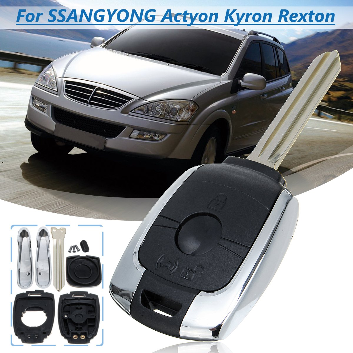 Korando C New Actyon Oem Parts Rear Tailgate wing logo badge for Ssangyong 2014